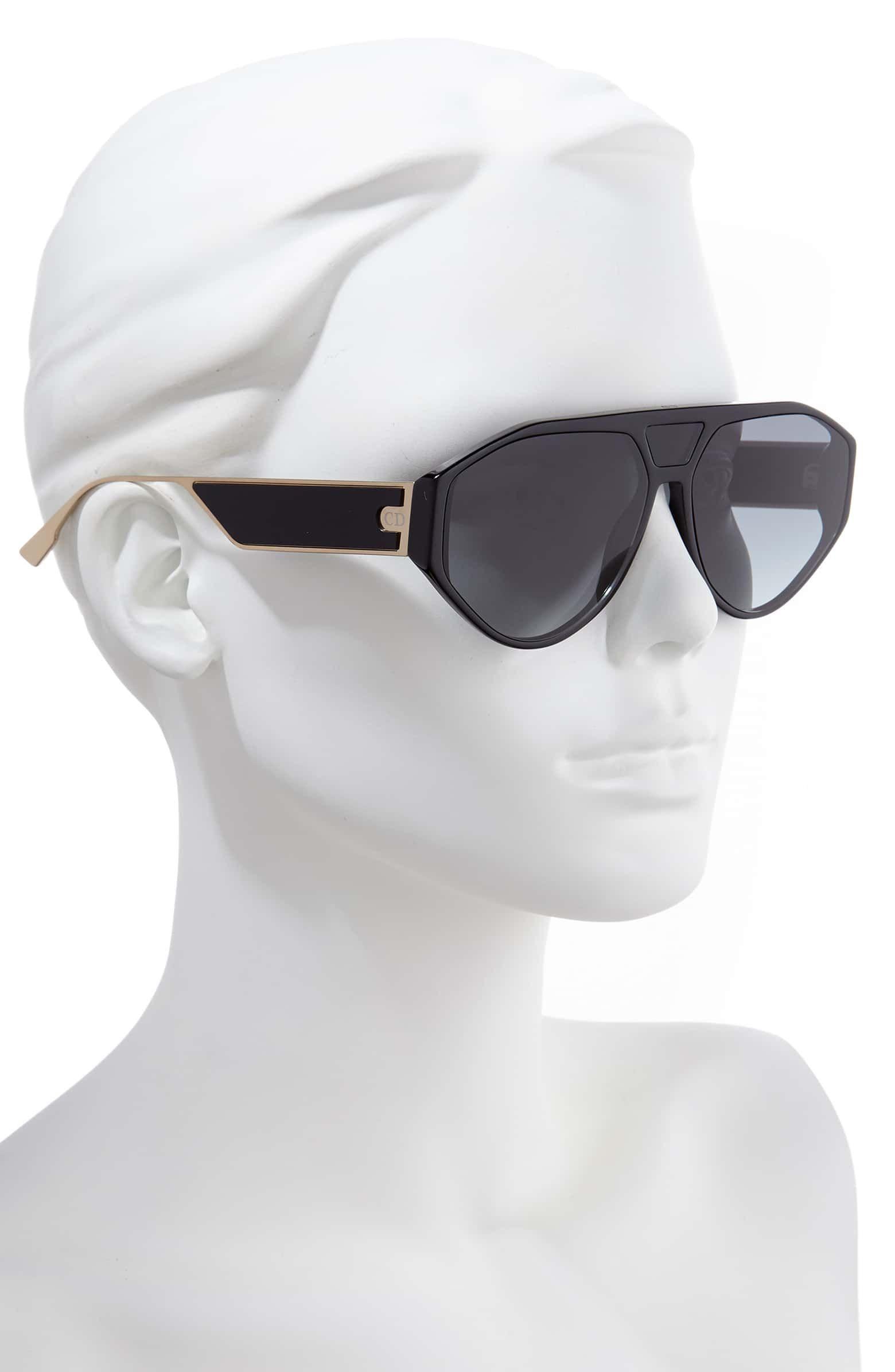 fe7bdce41 Christian Dior 61mm Aviator Sunglasses, Alternate, color, BLACK- all colors