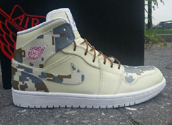 digi cam custom jordan 1 1 Air Jordan 1 Digi Camo Customs by Ecentrik  Artistry 9bbc4089e9