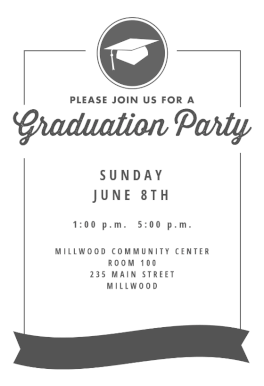 Ribbon Graduation Graduation Party Invitation Template Free Greetings Island Graduation Invitations Template Graduation Party Invitations Templates Party Invite Template