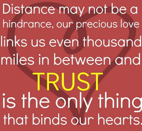 long distance love story in quote | Cute Love Quotes for Her ...