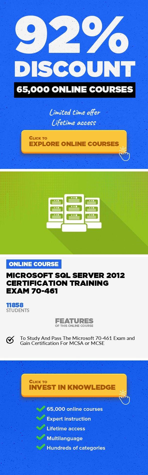 Microsoft Sql Server 2012 Certification Training Exam 70 461