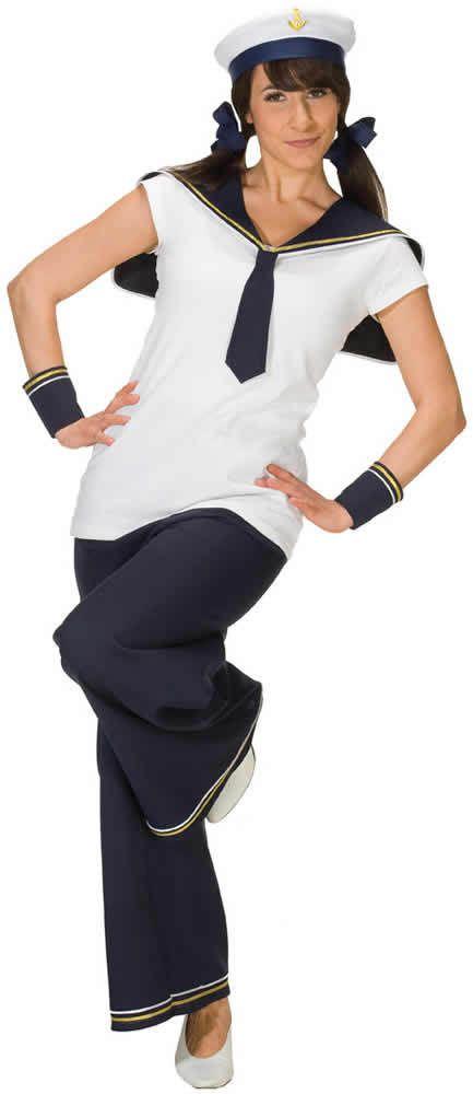Herren Long-Sleeve Matrose Matrosin Sailor Fasching Fastnacht Kostüm Karneval