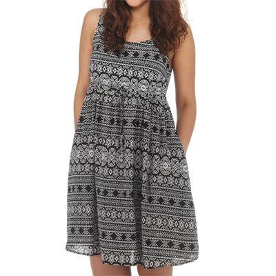 Wemoto Strummer Dress Sand/Black Print