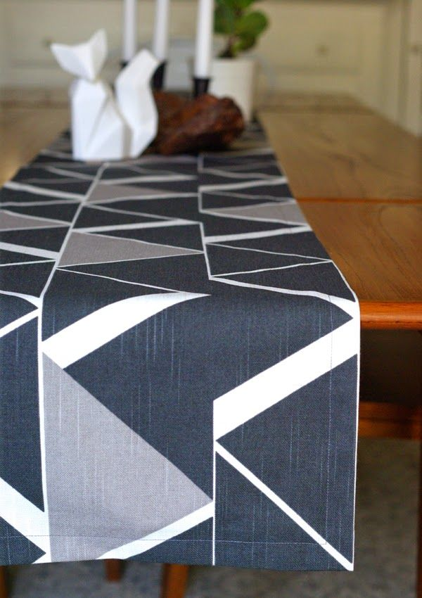 Table Runner Made With Nate Berkus Fabric