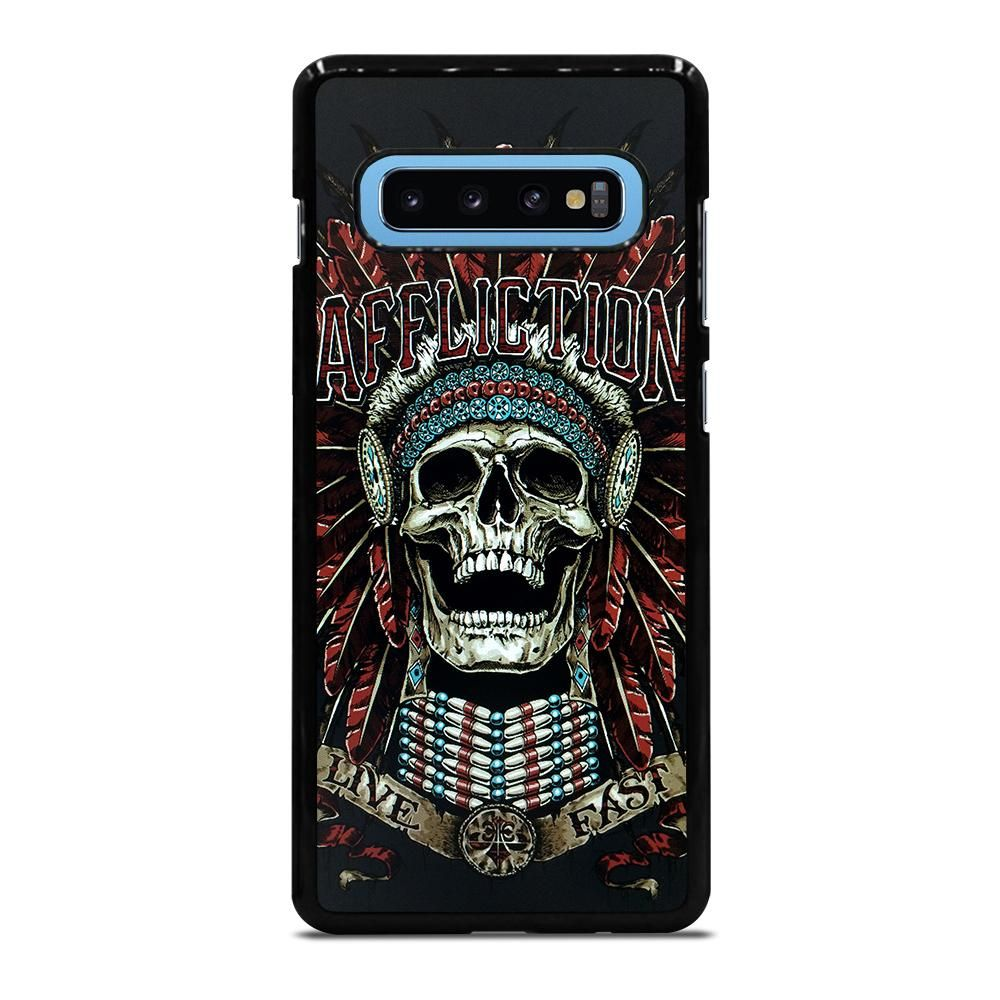 AFFLICTION SKULL INDIAN Samsung Galaxy S10 Plus Case Cover