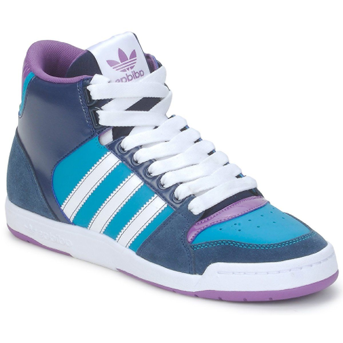 zapatillas adidas azules con caña