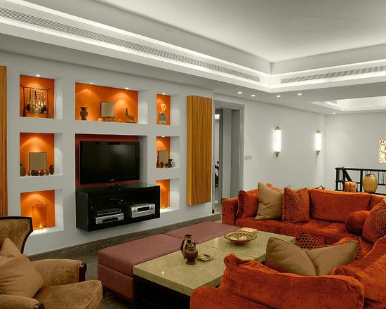Family Room Grey And Orange Design Pictures Remodel Decor Ideas