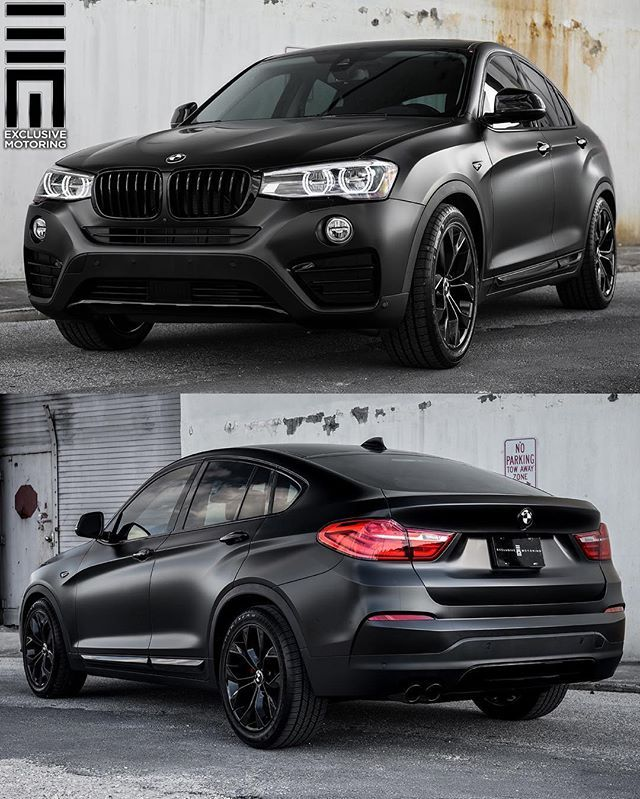 X4 Fully Wrapped In Satin Black With Gloss Black Accents And Wheels