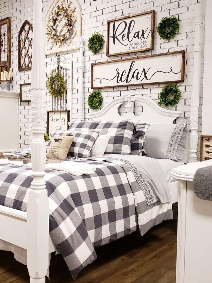 Photo of #buffalocheck #storefrontideas Buffalo check bedding and farmhouse decor inspira…