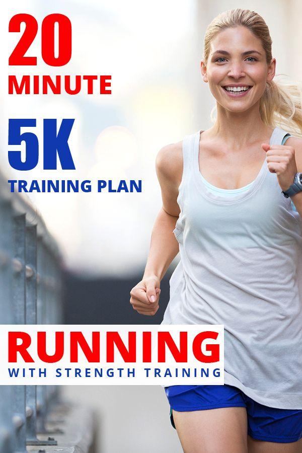 20 Minute 5k Training Plan, Running With Strength Training