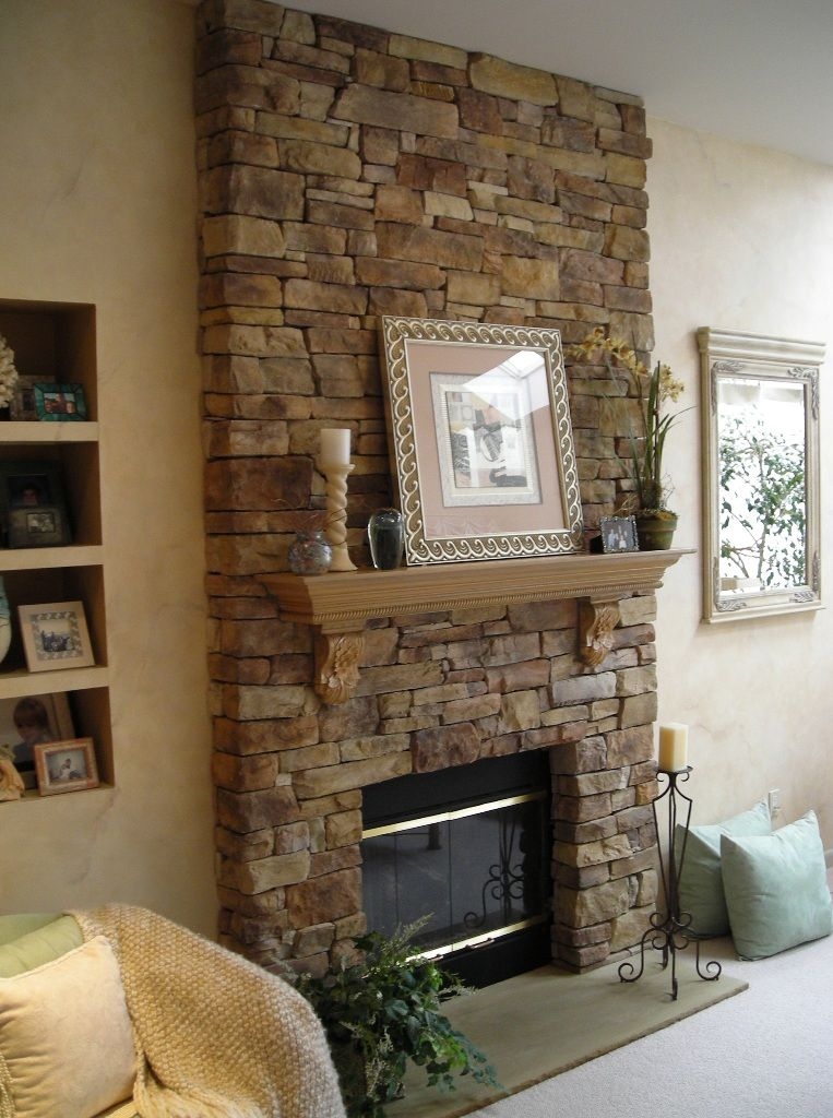 Fireplace Antique Airstone Spring Creek From Air Stone Solution