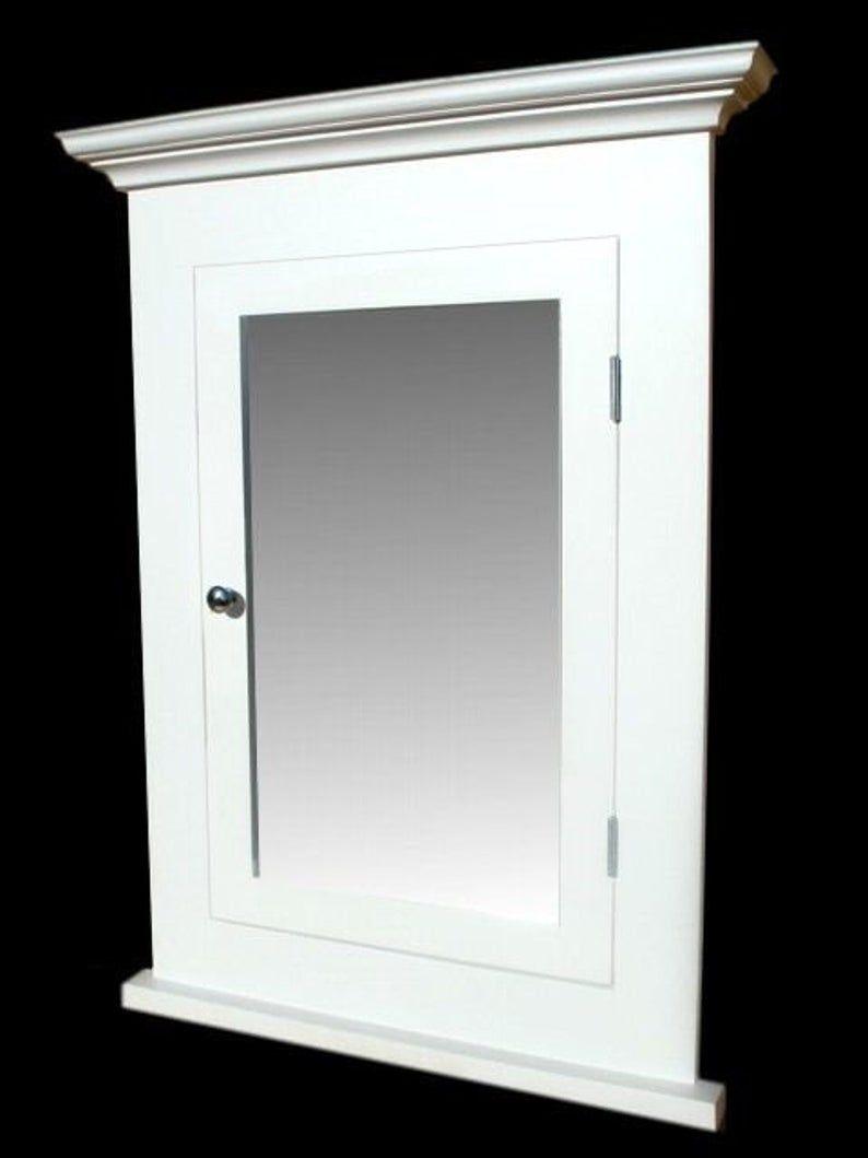 Michelle White Recessed Medicine Cabinet White Finish Etsy Recessed Medicine Cabinet Solid Wood Cabinets Cabinet