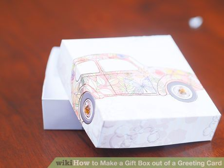 Image titled Make a Gift Box out of a Greeting Card Step 10