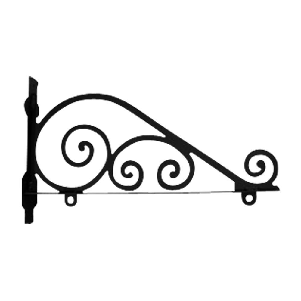 Wrought Iron Traditional Sign Post Bracket 18in Sign Bracket Wrought Iron Decor Wrought
