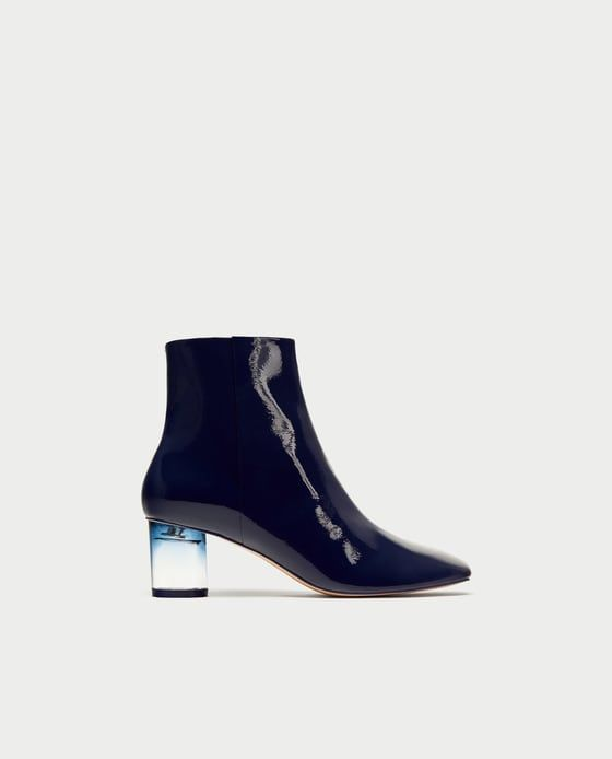 73e5997c9327 ZARA - WOMAN - PATENT FINISH ANKLE BOOTS WITH CLEAR HEELS