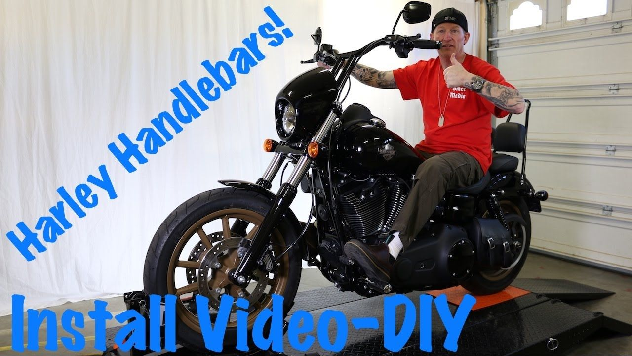 Install Handlebars On Harley Dyna Softail Or Sportster T Bars Extend Wires Cables Youtube Harley Dyna Softail Harley Handlebars