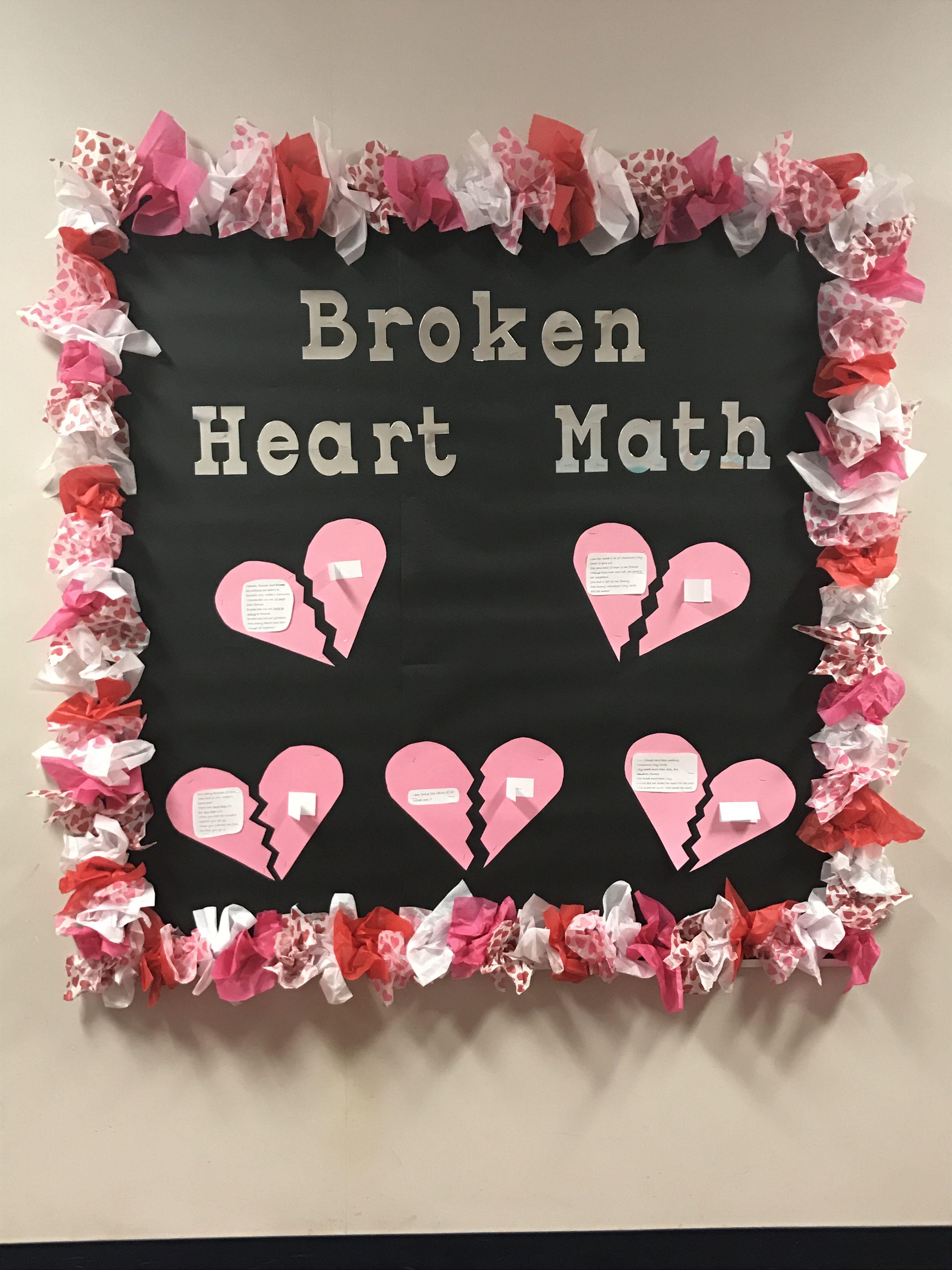 Valentine S Day Math Bulletin Board With Math Riddles