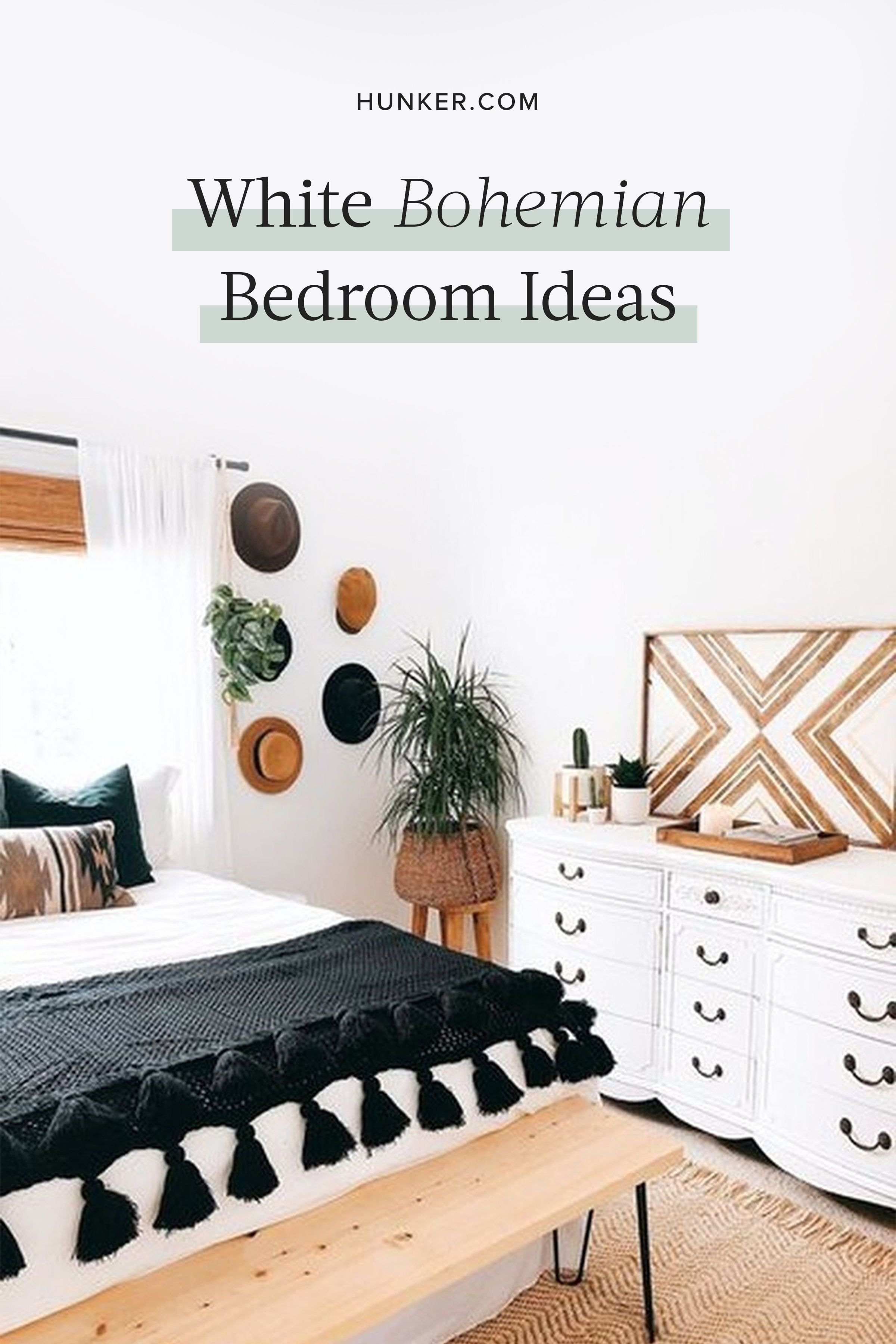 Photo of These White Bohemian Bedroom Ideas Are a Breath of Fresh Air