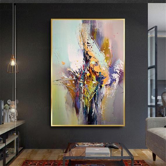 Original Acrylic Abstract Painting Canvas Wall Art
