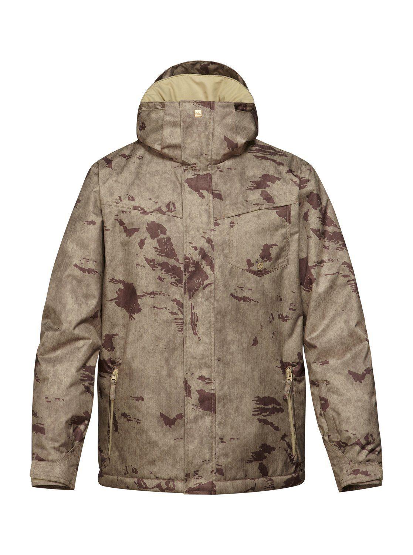 Quiksilver Snow Big Boys Mission Printed Winter Coat