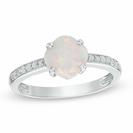 Zales 7.0mm Cushion-Cut Lab-Created Blue and White Sapphire Bypass Split Shank Ring in Sterling Silver CsmMC3