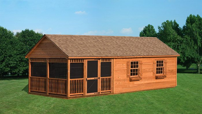 12 x 28 gable style shed shaum man cave pinterest for Gable style shed