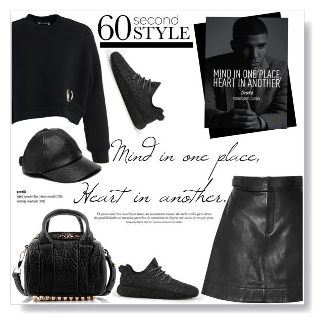 """Mind in one place, Heart in another"" by viola279 ❤ liked on Polyvore featuring Alexander Wang, adidas, Kate Spade, DRAKE, views and 60secondstyle"