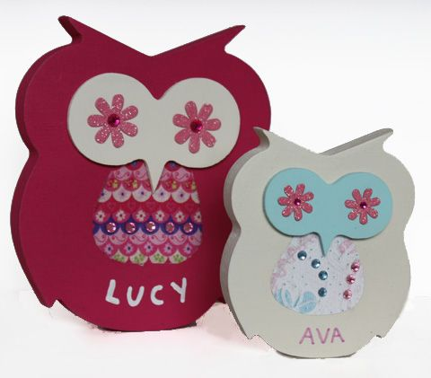 Wooden name plaques personalised free standing owls for kids baby wooden name plaques personalised free standing owls for kids baby gifts birthdays christmas negle Images