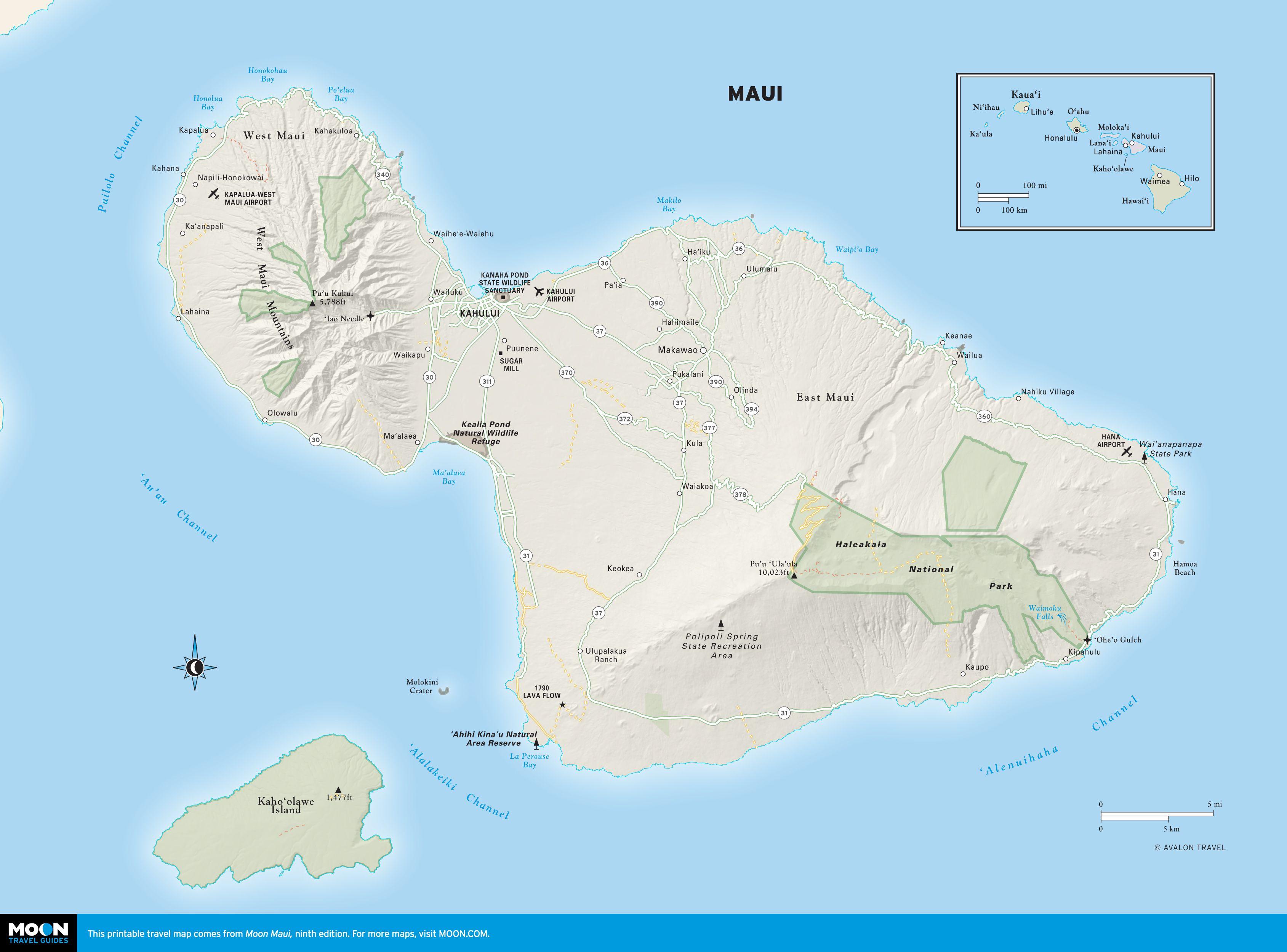 Printable travel maps of maui pinterest maui hawaii and hawaii color map of maui hawaii thecheapjerseys Choice Image