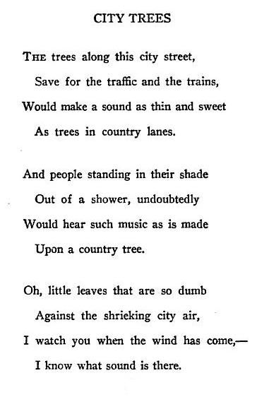 City Trees By Edna St Vincent Millay Wisdom Quotes Words Quotations