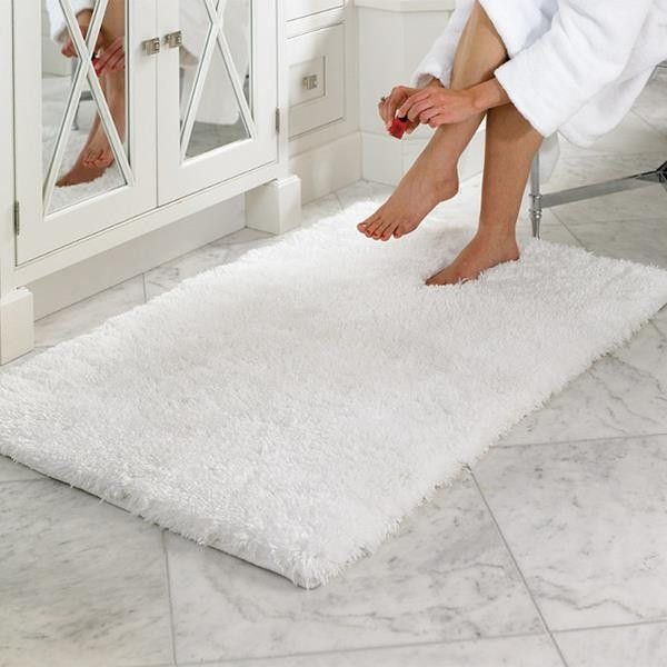 White Bath Mat Bathroom Decorating Ideas Httpdecornet - Beige bath mat for bathroom decorating ideas