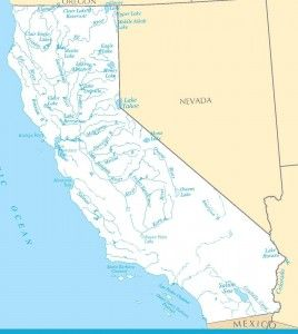 Map of California Rivers Interactive Calif Watersheds Map