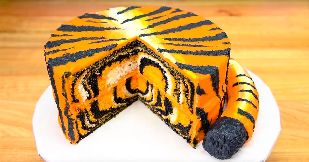 Learn How To Make A Wild Tiger Cake With Cookies Cupcakes