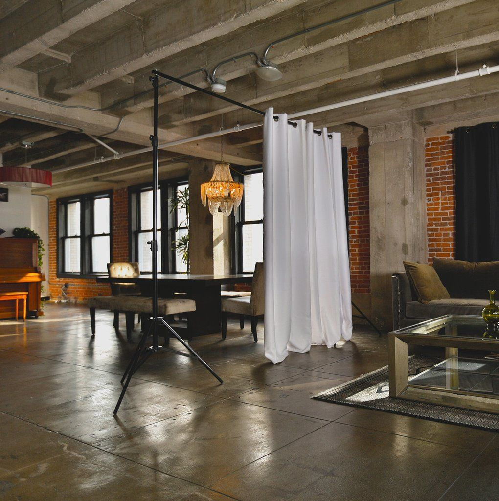 White freestanding room divider kit open loft hair salons