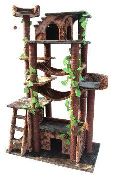 Amazon.com: Kitty Mansions Amazon Cat Tree, Green/Brown: Pet Supplies