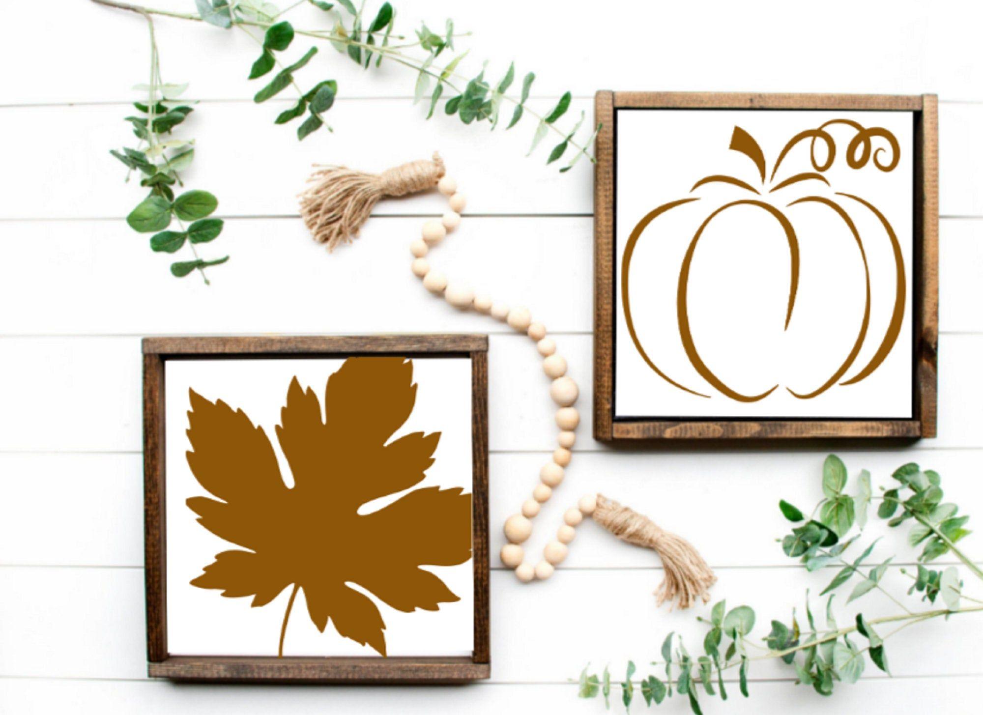 Best Fall Leaf Pumpkin Set 12X12 Living Room Decor Fall 400 x 300
