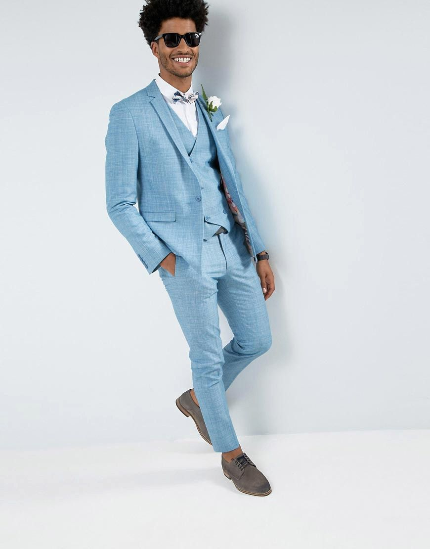 How to Wear a Bold Colored Suit on Your Wedding Day | Wedding suits ...
