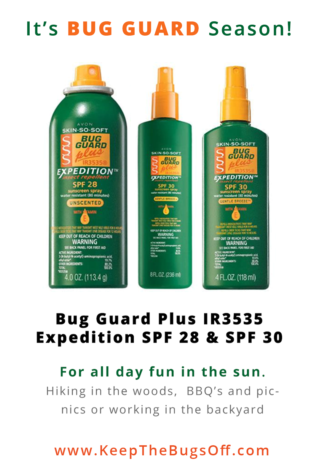 choosing your avon bug guard is easy use skin so soft bug guard