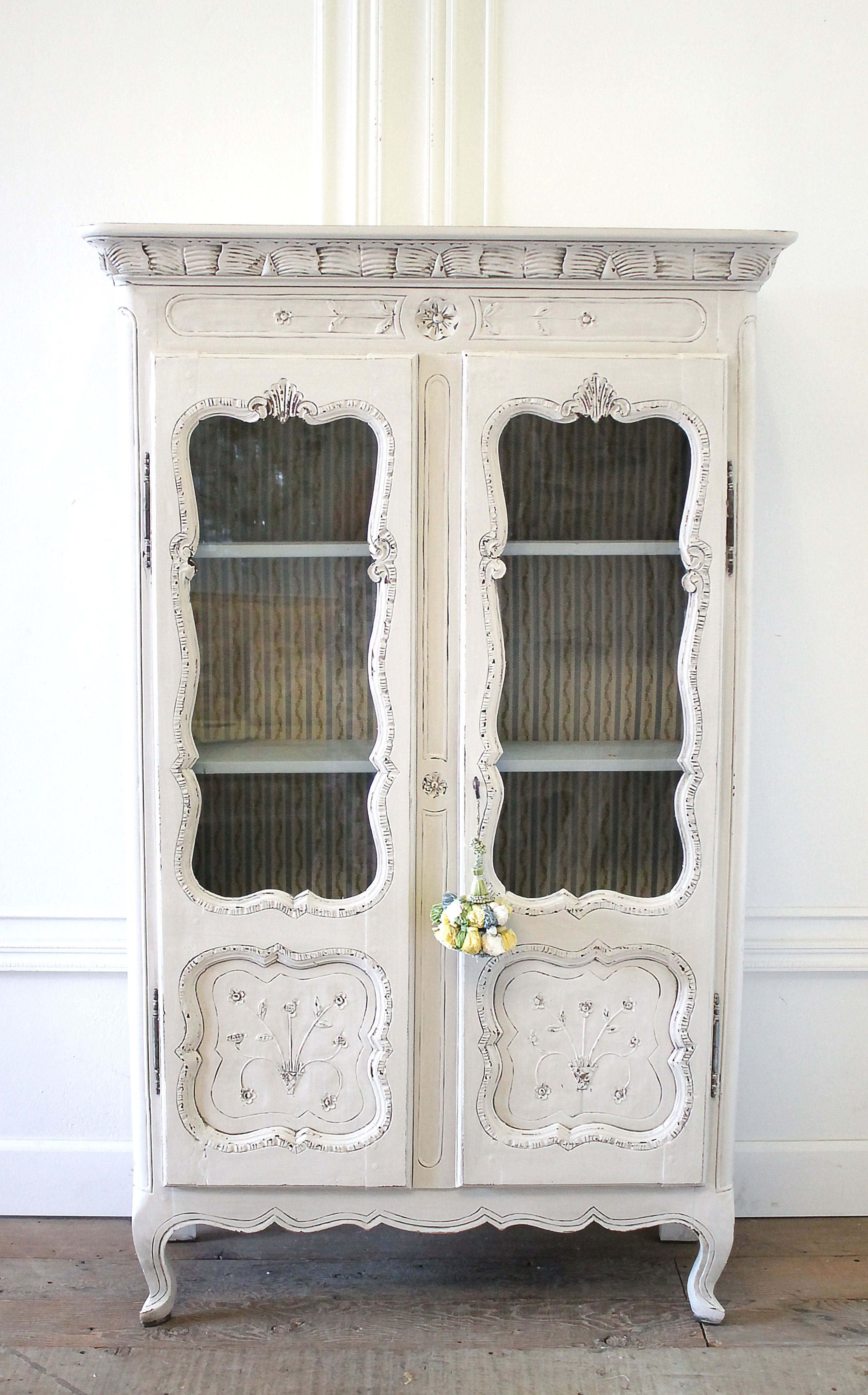 Early 19th Century Pee Painted Country French Cupboard Was 3 996 Now 2 900
