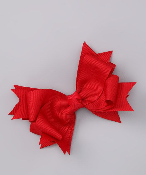 Look at this Payton Grace Bows Red Bow on #zulily today!