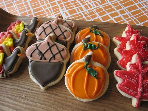 thanks+giving+ideas   fall cookies 0 Thanksgiving cookie decorating ideas  just for you