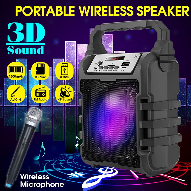 Portable bluetooth Wireless Speaker Subwoofer Square Dance
