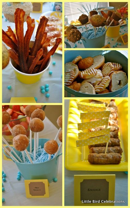 Pin By Devin Crouch On Party Ideas Donut Birthday Parties Birthday Breakfast Party Birthday Breakfast
