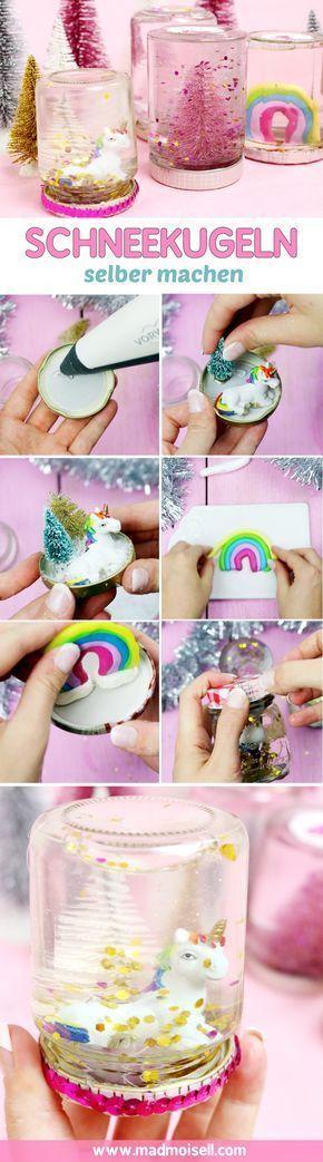 DIY Schneekugeln selber machen: Günstiges Geschenk für Weihnachten