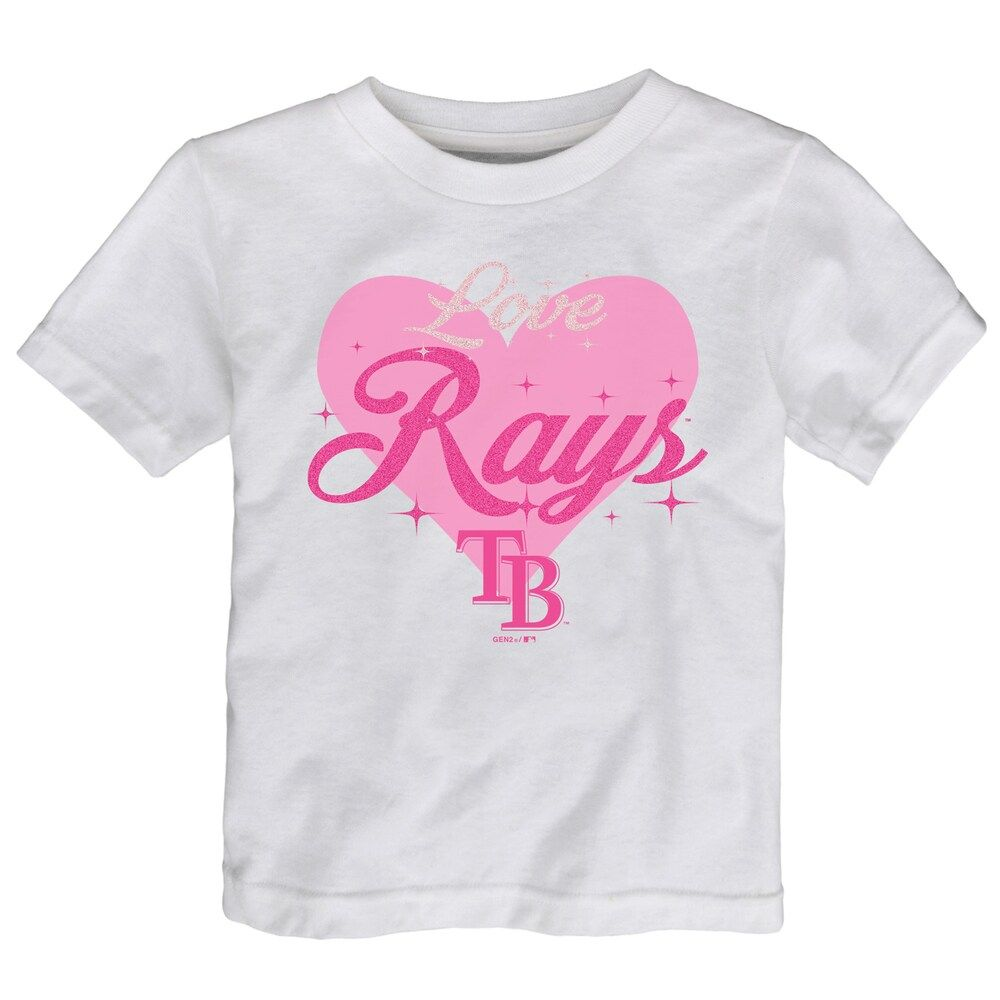 Girls T-Shirt White or Pink With Glitter Print Sizes 6 Months to 4 Years