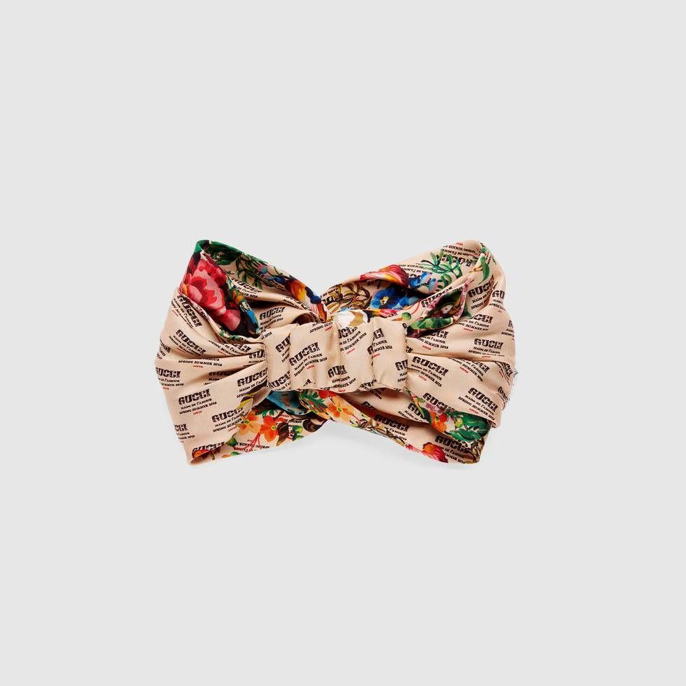 acc5927eab5 Gucci invite and flowers print silk headband - Gucci Women s Silks    Scarves 5196863G0019888