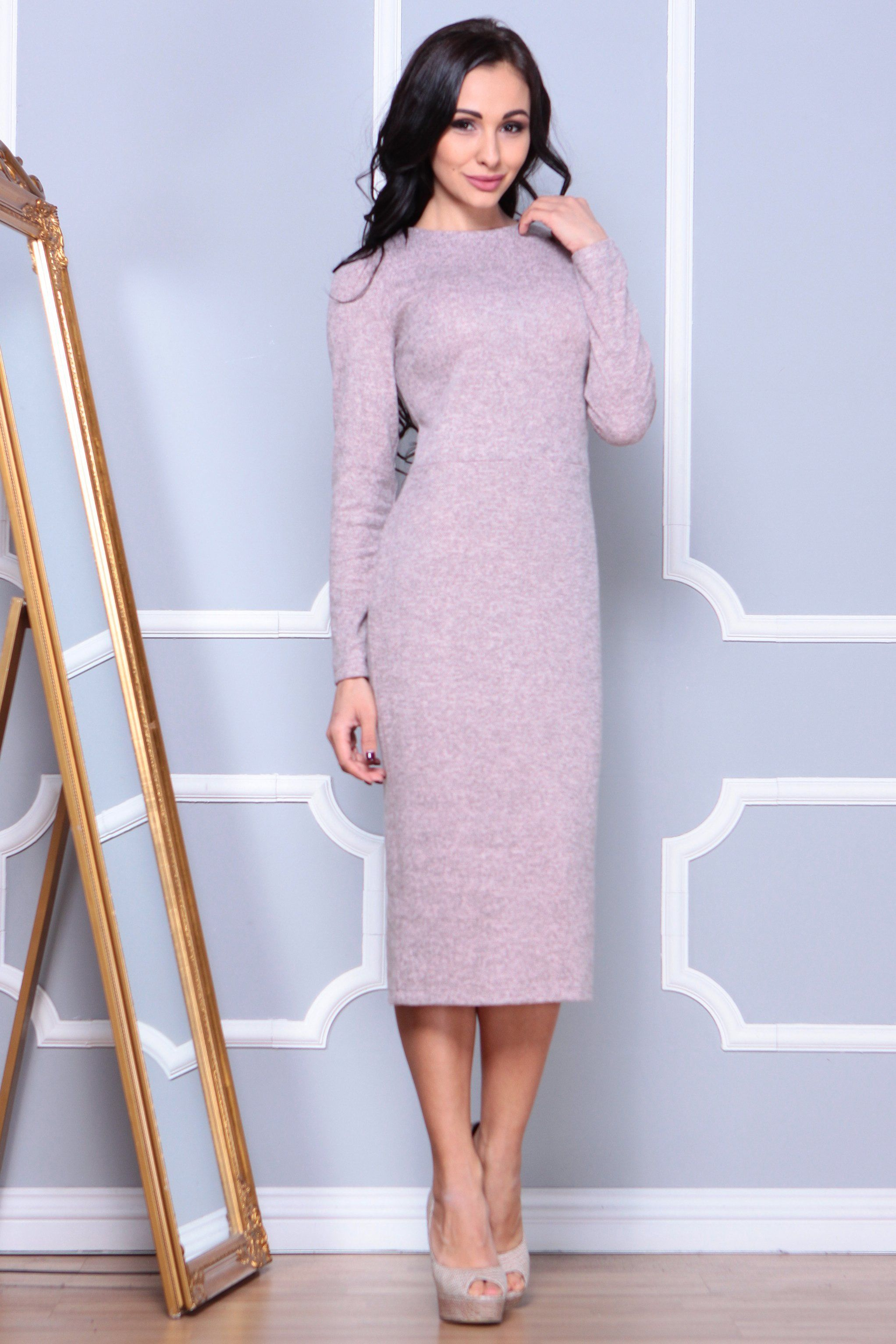 Day hline jewel neckline long sleeve midi dress in products