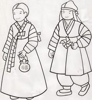 Korean Hanboks Coloring Pages Just Wedeminute Korean Coloring - Korean-hanbok-coloring-pages