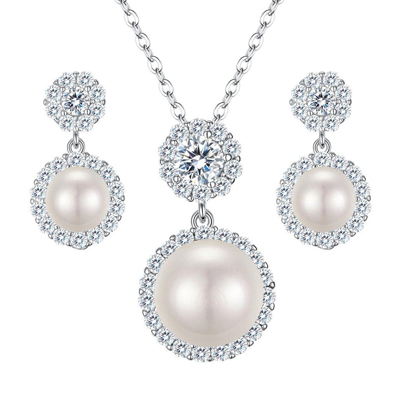 Clearine Women's 925 Sterling Silver Wedding Bridal Cubic Zirconia Snowflake Inspired Flower Pierced Earrings XSi4U3op