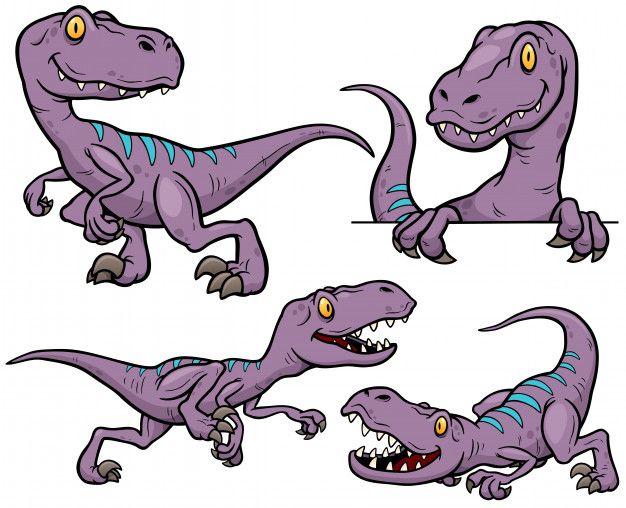 Personaje de dibujos animados de dinosaurios Vector Premium ...